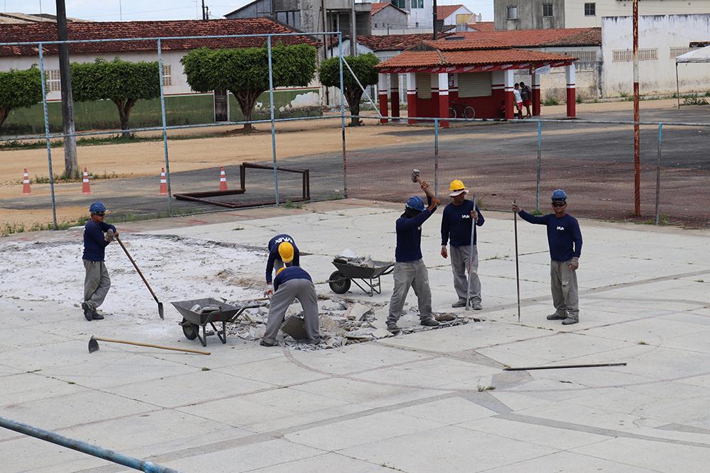 Cobertura e modernização da quadra poliesportiva do Povoado Brasília.