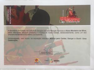 Menção Honrosa homenageou integrantes da Banda Los Guaranis (Foto: Kiko Monteiro)