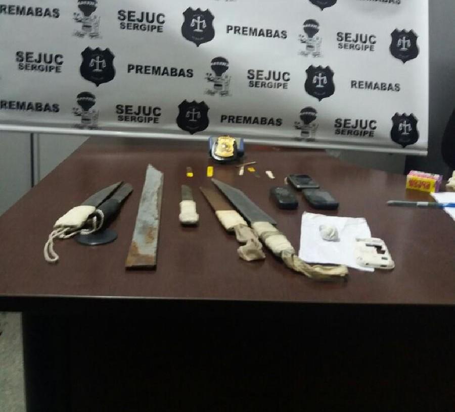 Armas brancas e celulares são encontrados no Presídio de Tobias Barreto