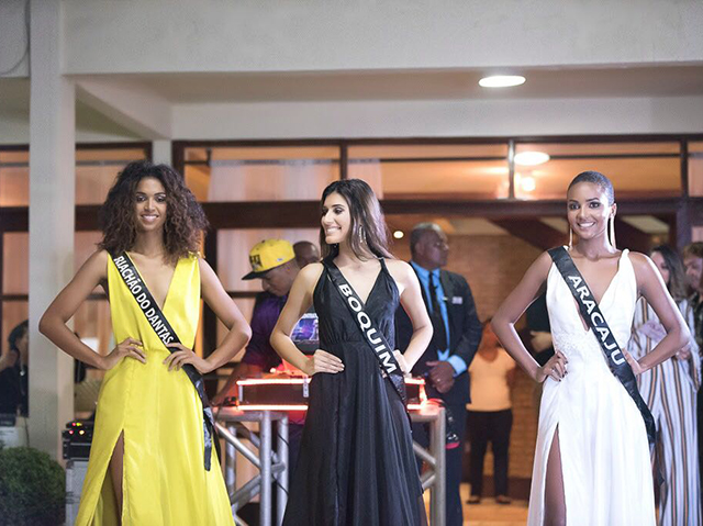As três primeiras colocadas do Miss Sergipe