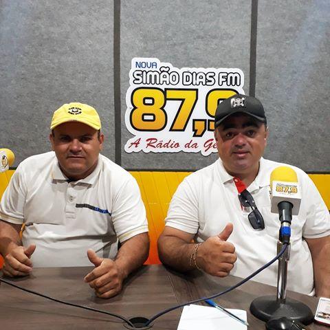 Zé Carlos e Cristiano Viana durante apresentação do programa (Foto: Redes Sociais)