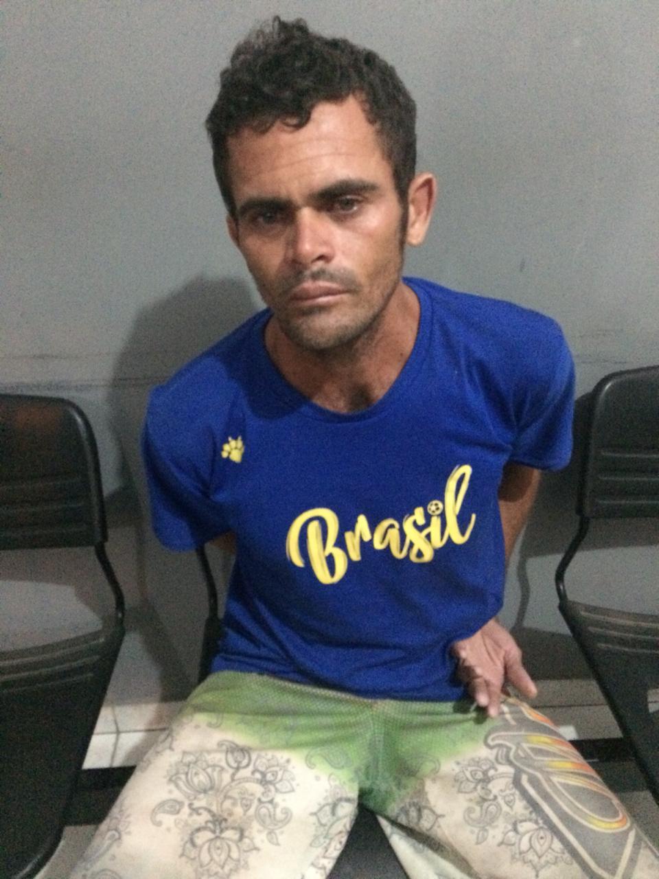 Suspeito preso por agressão (Foto: 7º BPM)